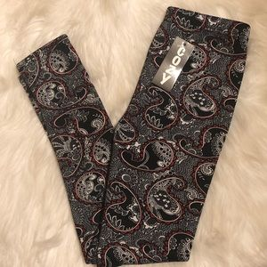 NWT JUST COZY FUR LINEN LEGGINGS